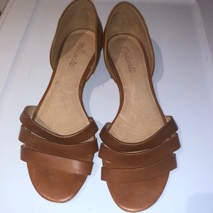 Madewell d'orsay flats tan leather 9.5